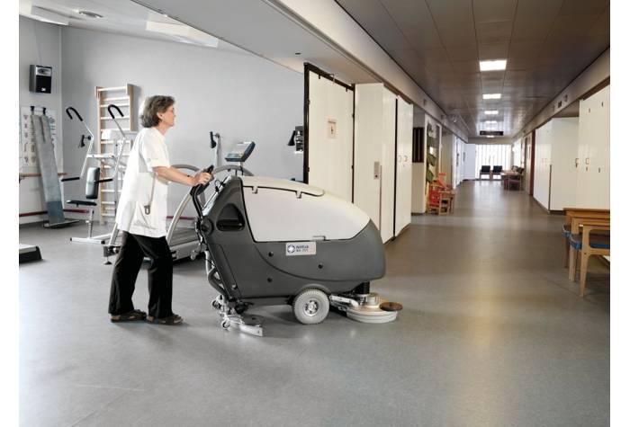 استفاده از دستگاه اسکرابر BA651 بعنوان یک کفشور کم صدا در بیمارستان