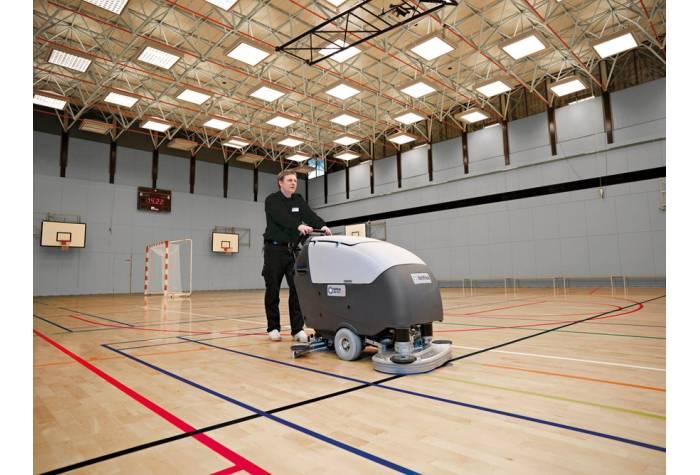 کاربرد دستگاه اسکرابر BA651 بعنوان یک دستگاه زمین شوی کارآمد در باشگاه ورزشی