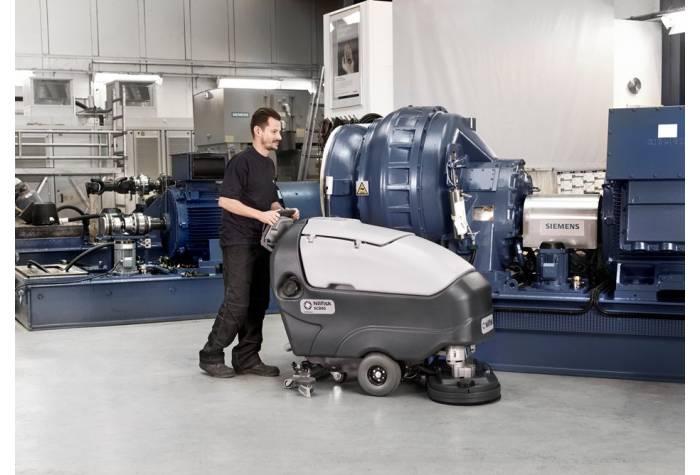 کاربرد دستگاه اسکرابر SC800-86 بعنوان دستگاه زمین شوی صعنتی در کارخانه