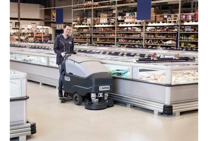 کاربرد دستگاه اسکرابر SC800-86  بعنوان زمین شوی موثر در سوپرمارکت