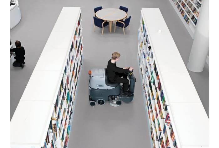 کاربرد دستگاه اسکرابر BR 652 در کتابخانه