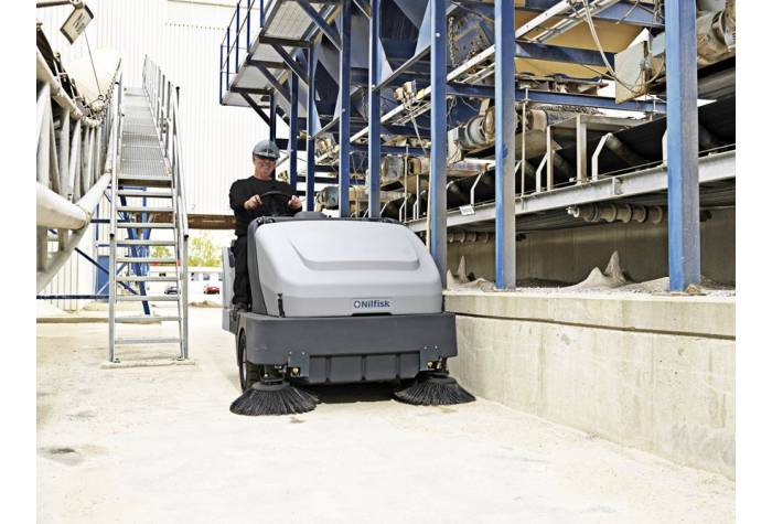استفاده از سوییپر SR 1601D MAXI در کارخانجات سیمان بعلت فیلتراسیون بالا و سیستم کنترل گرد و غبار
