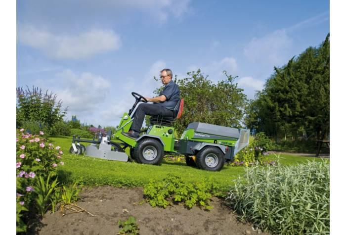 قابلیت حرکت سوییپر چمن زن mulch and rotary mower روی سطوح شیبدار